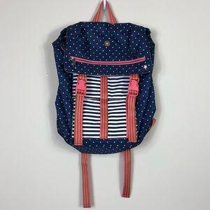 Matilda Jane | Navy and Pink Polka Dot Backpack